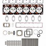 TrackTech Complete Top End Cylinder Head Gasket / Studs Service Kit for 89-98 5.9L Cummins 12V