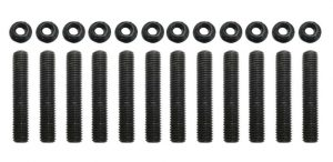 TrackTech Exhaust Manifold to Cylinder Head Mounting Studs / Nuts for 89-20 5.9L 6.7L Cummins 12V 24V