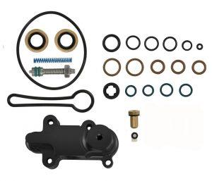 TrackTech Billet Adjustable Fuel Pressure Regulator  Kit Black for 03-07 6.0L Powerstroke