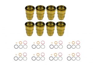 TrackTech Set of 8 Fuel Injector Cup Sleeve O-Ring Kit for 94-03 7.3L Powerstroke