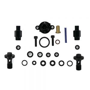 TrackTech Blue Spring Kit With CVD And Banjo Bolt for 99-03 7.3L Powerstroke fuel