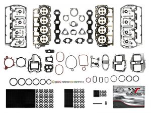 TrackTech Complete Top End Cylinder Head Gasket / Studs Service Kit For 11-17 6.7L Powerstroke